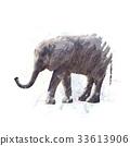 Baby Elephant watercolor 33613906