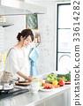 廚房 主婦 家庭主婦 33614282