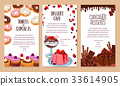 Vector poster template for bakery shop desserts 33614905