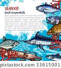 海鮮 魚 海報 33615001