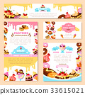 Vector templates of bakery shop or cafe patisserie 33615021