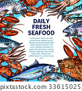 seafood fish poster 33615025