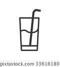 Beverage Icon line icon 33616180
