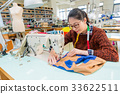 pretty female sewing worker using tailor machine 33622511