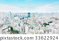 Japan city view & hand drawn sketch illustration 33622924