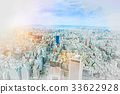 Taipei city view & hand drawn sketch illustration 33622928
