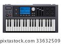 Music Synthesizer. Realistic Style Electronic 33632509