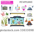Aquarium appliance icon set flat style isolated  33633098