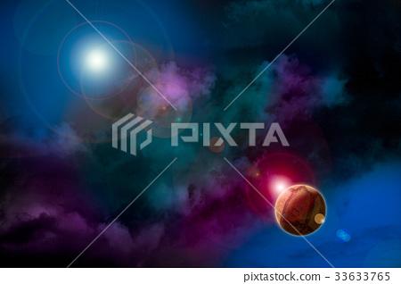 Bright cosmic landscape 33633765