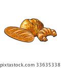 向量 向量圖 羊角麵包 33635338