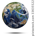 Planet Earth 3d rendering 33635522