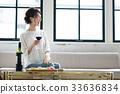葡萄酒 紅酒 酒 33636834