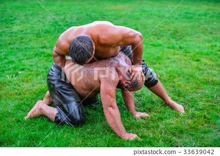 Wrestling match and fight 33639042