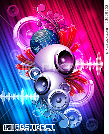 Abstract vector shiny background with speakes 33639352