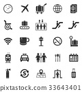 Airport icons on white background 33643401