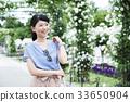 ผู้หญิงเดินทางโยโกฮามาการเดินทางระยะสั้น 33650904