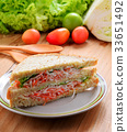 crab salad sandwich 33651492