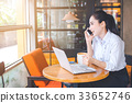 Business women are working on a laptop 33652746