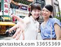เพื่อนท่องเที่ยวหญิง Chinatown Yokohama Short Trip Walk Walk 33655369