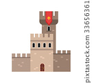 Ancient stone fortification castle, medieval 33656361