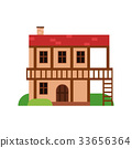 Traditional old house with timber framing, ancient 33656364