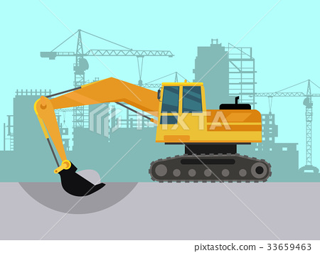 Ground Works on Construction Flat Vector Concept 33659463