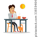 fatigue, work, vector 33659464