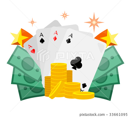 Poker Conceptual Vector Web Banner in Flat Design 33661095