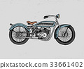 motorcycle or motorbike illustration. engraved 33661402