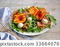 ham, nectarine, mozzarella 33664076