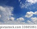 Beautiful white clouds in the dark blue sky. 33665061