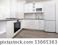 Modern white kitchen 33665363