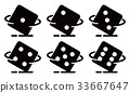 rolling dice, vector 33667647