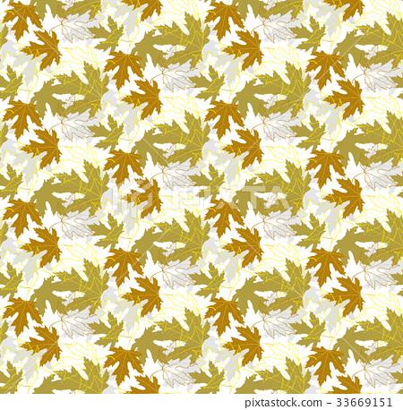 Maple leaf autumn patterns seamless 33669151