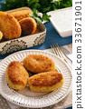 Potato croquettes stuffed with mozzarella  33671901