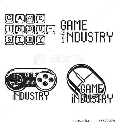 Vintage game industry emblems 33672079