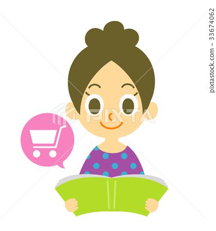 Catalog shopping woman 33674062
