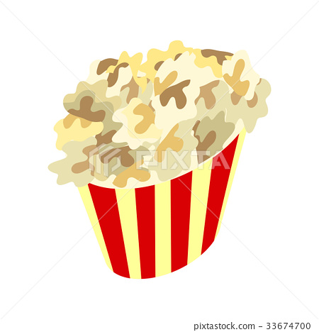 Popcorn Box Icon. Traditional Salty, Sweet Snack 33674700