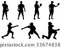 baseball, baseballs, silhouette 33674838