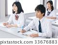 青少年初中学生学习形象 33676883