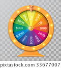 wheel of fortune 3d object vector illustration 33677007