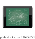 e-learning concept.Tablet with mathematics 33677053