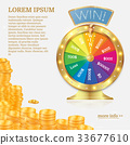 Fortune spinning wheel. Gambling concept. 33677610