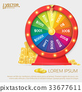 Fortune spinning wheel. Gambling concept. 33677611