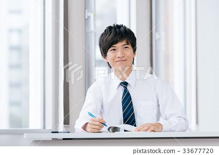 初中学生学习形象 33677720