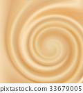 Swirling creamy caramel texture 33679005