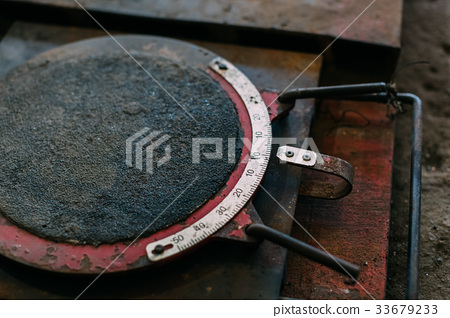 Old and mechanical instrument for measuring. 33679233