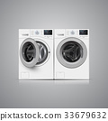 Vector illustration of  two   washers  33679632