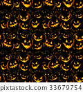 Halloween holiday, seamless background 33679754