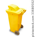 Yellow Recycle Bin 33680502